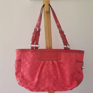 Red/Coral Coach Bag